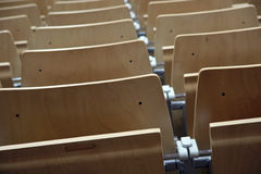Reihe der Stühle Stockfotos