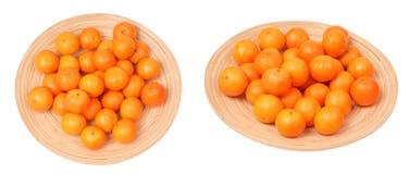 Reihe der Tangerine Stockfoto