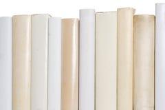 Reihe der weißen Bücher lizenzfreie stockfotos