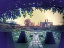 Reihe des geheimen Gartens Stockfotos