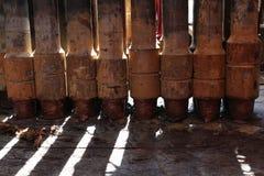 Reihe des Werkzeug-Gelenkes an Pin-Ende der Bohrstange Stockfotos