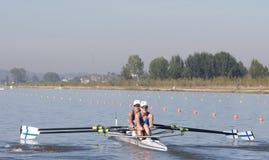 REIHE: Die europäischen Rudersport-Meisterschaften lizenzfreies stockbild