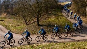 Reihe eines Radfahrers Lizenzfreies Stockfoto