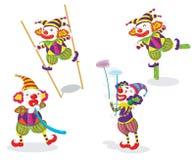 Reihe lustige Clowne Lizenzfreie Stockfotos