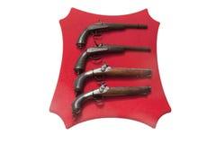 Reihe mit alten Waffen Stockfoto