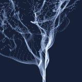 Reihe mit dynamischen ausgestrahlten Partikeln Wasser-Spritzen-Nachahmung entziehen Sie Hintergrund Lizenzfreie Stockfotos