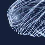 Reihe mit dynamischen Partikeln Art der Technologie-3D entziehen Sie Hintergrund Lizenzfreie Stockbilder