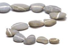 Reihe mit Steinen Stockfoto