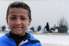 Reihe Porträts von Kindersyrerflüchtlingen stockfotos