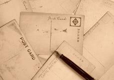 Reihe Postkarten lizenzfreie stockbilder