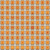 Reihe Rot orange Ikonen Lizenzfreie Stockfotos