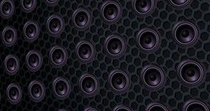 Reihe Sprecher des Lautsprechers, Beschaffenheitseffekthintergrund, Bass-Bewegung mit Alpha, Kanal stock abbildung
