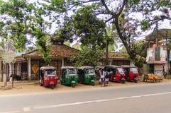 Reihe tuk-tuk Taxi Stockfoto