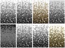 Reihe vom Pixelhintergrund mit 8 Mosaiken Stockbild