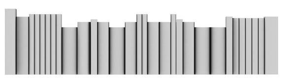 Reihe von Büchern Stockbilder