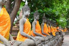 Reihe von Buddha Lizenzfreie Stockbilder