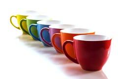 Reihe von Cup Stockfotografie