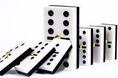Reihe von Dominos Stockbilder