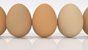 Reihe von Eiern lizenzfreie abbildung