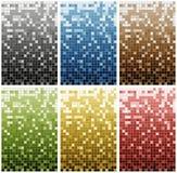 Reihe von 6 farbigem Mosaik Lizenzfreie Stockfotos