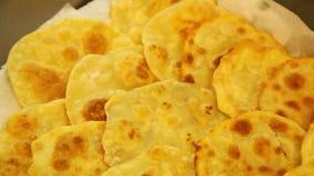 Reihe von gebratenen Chapati Stockfotografie
