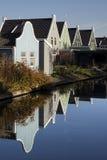 Reihe von Häusern in Westzaan Lizenzfreie Stockfotos
