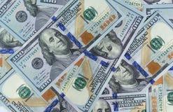 Reihe 2013 von hundert US-Dollar Rechnungen als wohlhabendem Konzept Stockbilder