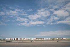 Reihe von Küstenhäusern in Wales Lizenzfreies Stockbild