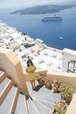 Reihe von Santorini Griechenland Lizenzfreie Stockfotografie