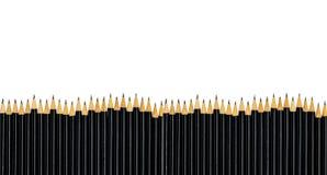 Reihe von schwarzen Bleistiften Lizenzfreie Stockfotos