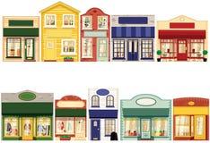 Reihe von Shops Lizenzfreies Stockfoto