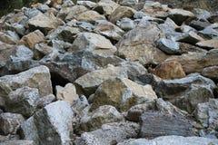 Reihe von Steinen stockbild