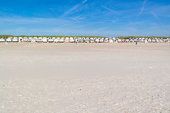 Reihe von Strandhäusern, die Niederlande Lizenzfreies Stockbild