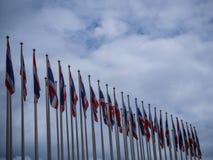 Reihe von Thailand-Flagge lizenzfreies stockbild