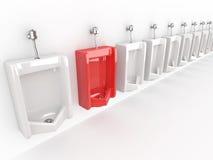 Reihe von Urinals Lizenzfreies Stockfoto