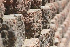 Reihe von Ziegelsteinen Stockbild