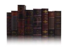 Reihen der alten Bücher Lizenzfreies Stockfoto