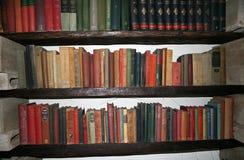 Reihen der alten Bücher Stockbilder