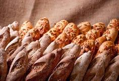 Reihen der Bäckerei Stockbild