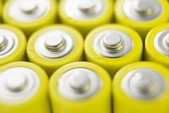 Reihen der Batterien Stockbilder