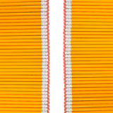 Reihen der Bleistifte Stockfotografie
