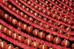 Rote chinesische Laternen Lizenzfreie Stockbilder
