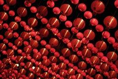 Rote chinesische Laternen Stockfotografie