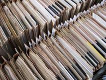 Reihen der Dateien stockfoto