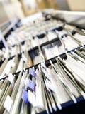 Reihen der Dateien lizenzfreie stockbilder