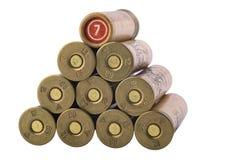 Reihen der Gewehrkugeln, 12. Kaliber Stockbild