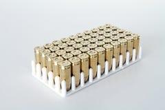 Reihen der Gewehrkugeln Lizenzfreies Stockfoto