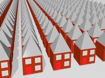 Reihen der gleichen Häuser Stockfotografie