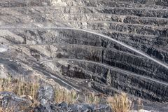 Reihen der Grube lizenzfreies stockfoto