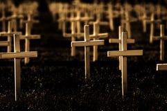 Reihen der Kreuze lizenzfreie stockfotografie